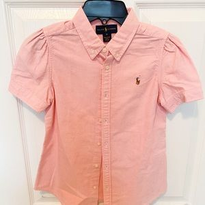 Girls Pink Oxford Blouse, Polo by Ralph Lauren